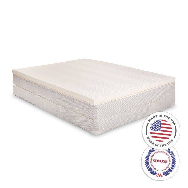 100 latex reversible mattress topper with 2