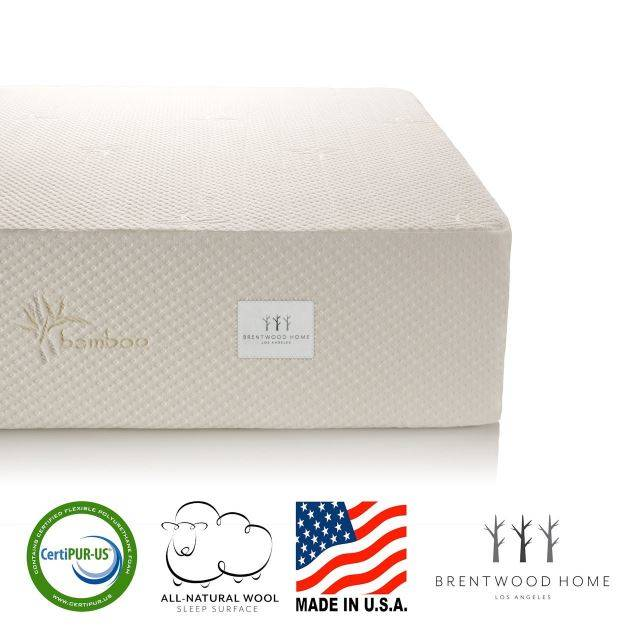 "Brentwood Home 13"" Bamboo Gel Memory Foam Mattress"