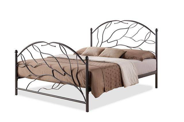 Baxton Studio Zinnia Tree Style Antique Bronze Iron Metal Platform Bed